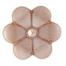 FLOWER SHAPE BUTTON W/SHANK