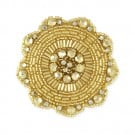 SUN DISC BEADED APPLIQUE