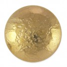 HAMMERED METAL BUTTON W/SHANK