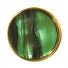 GREEN ENAMEL WITH GOLD RIM BLAZER BUTTON