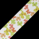"1.5"" BUTTERFLY PRINTED RIBBON - YELLOW/CORAL MULTI"