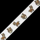 "7/8"" PONY PRINTED RIBBON - BROWN/WHITE"
