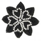 HEART LEAF BEADED APPLIQUE#$#$#undefined