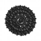 EXTRA LARGE BEADED BUTTON-38mm-BLACK