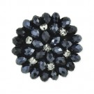 EXTRA LARGE FACETED BEADED BUTTON