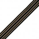 18MM METALLIC STRIPE FOLDOVER ELASTIC