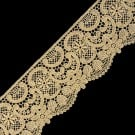 2 1/4&quot; INTRICATE FLORAL FINE METALLIC LACE