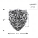 "3"" X 2 1/2"" METAL CREST BUCKLE-All-SILVER"