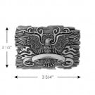 EAGLE & FLAMES METAL BUCKLE-SILVER#$#$#undefined