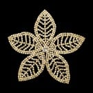 RHINESTONE PETAL FLOWER APPLIQUE