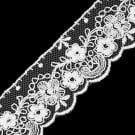 "1 1/4"" SCALLOP AND FLORAL EMBROIDERY LACE"