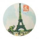 VINTAGE EIFFEL TOWER BUTTON-MULTI