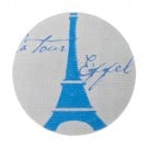 EIFFEL TOWER BUTTON-GREY/BLUE