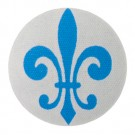 FLEUR DE LIS BUTTON-GREY/BLUE