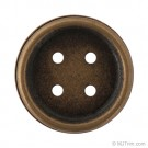 Large Antique Metal Button with Lip