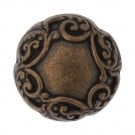 Metal Scroll Dome Button