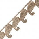 "1 1/2"" Paisley Metallic Iron-on Trim"