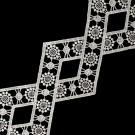 "3 1/2"" Diamond Shape Metallic Lace"