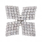 Brilliance Square Pinwheel Rhinestone Button