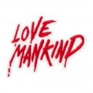 "3"" x 2 3/4"" LOVE MANKIND PATCH"