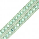 Double Row Iron-On Rhinestone Trim