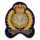 "3 1/4"" x 2 1/2"" Royal Navy Crest"