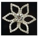 Rhinestone Flower Button