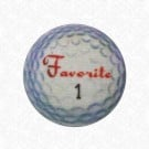 GOLF BALL  BUTTON - WHITE