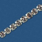 5MM 1 ROW POINTED RHINESTONE TRIM - CRYSTAL/SILVER
