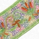 "3"" EMBROIDERED SEQUIN BEADED BORDER - LIME MULTI"