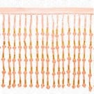 "5"" IMPORTED FACETED BEADED FRINGE - PEACH/ORANGE"