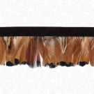 "1.75"" IMPORTED FEATHER FRINGE - BEIGE/BLACK"