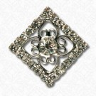 Rhinestone Filigree Button
