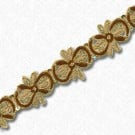 "1.25"" METALLIC BULLION TRIM - METALLIC GOLD/METALLIC BROWN"