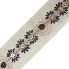 "3"" Embroidered Organza Trim"