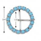 "3/4"" (19mm) Round Rhinestone Buckle"