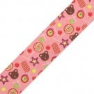"1.5"" CANDY PRINTED RIBBON - PINK MULTI"