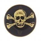 ENAMEL SKULL BUTTON