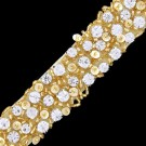 "1"" (25mm)  Rhinestone Beaded Trim"