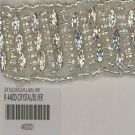 "3/4"" SEED BEADS/R.S. BEAD TRIM - CRYSTAL/SILVER"