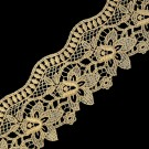 "2 3/4"" FINE METALLIC LACE-3 3/4""-GOLD"