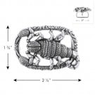 "1 3/4"" X 2 1/2"" SCORPION METAL BUCKLE-All-SILVER"