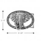 ELEPHANT AND TUSK METAL BUCKLE-ENGLISH SILVER
