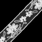 "1"" SEQUINS EMBROIDERED FLORAL LACE ON NET"