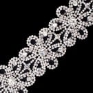 "2""(51mm) Floral Rhinestone Chain Trim"