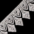 "2""(51mm) Diamond Shape Rhinestone Fringe"
