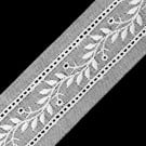 "7/8"" LEAF AND VINE EYELET LACE-WHITE"