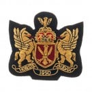 "3"" DOUBLE LION BULLION CREST-BLACK/GOLD"