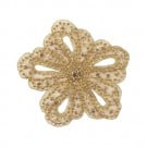 "4"" RHINESTONE FLOWER APPLIQUE"