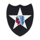 """2 1/2"""" x 3 1/2"""" 2ND INFANTRY DIVISION"""
